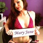 Tauche ein in die erotische Welt von Mary Jane. Bild